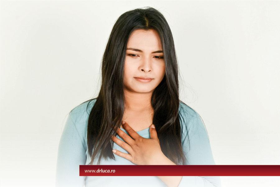 Durerile în piept, simptom pentru afecțiuni gastrointestinale